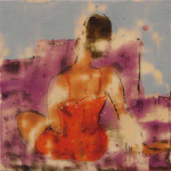Figure Encaustic